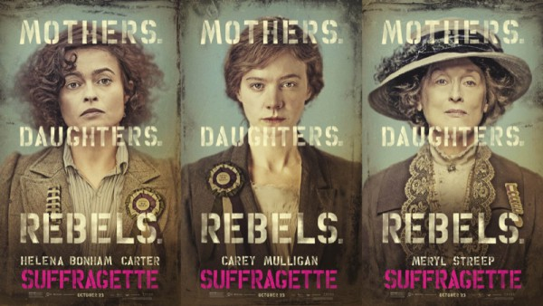 Locandine Suffragette, con Meryl Streep, Helena Bonham Carter, Carey Mulligan
