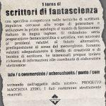 Annuncio Macchina Zero concorso Acheron Books fantascienza