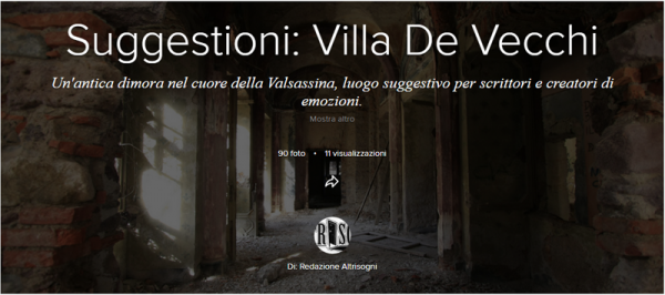 Villa De Vecchi. Album fotografico Flickr