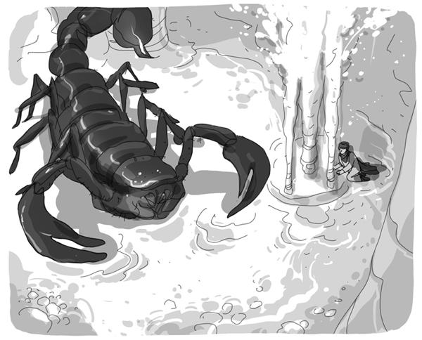 Una illustrazione di Alberto Madrigal, da Asad e il segreto dell'acqua (Piemme)