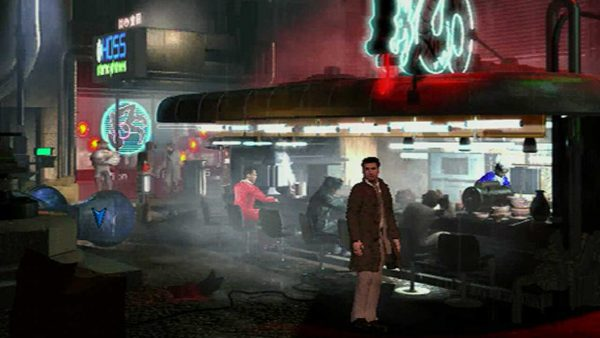 Videogame: Schermata di gioco dal fantascientifico Blade Runner (1997, Westwood Studios).