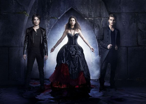 I tre personaggi principali della serie TV The Vampire Diaries