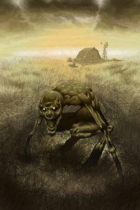 """Creepypasta: """"La cosa che striscia nei campi"""". Illustrazione di Antonio Dessì"""