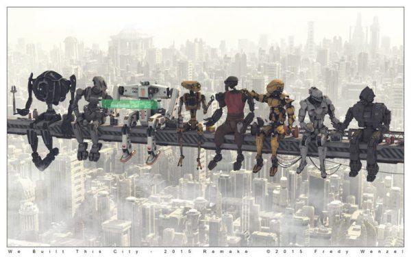 Westworld: Lunch atop a skyscraper, in versione robot