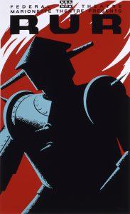 Westworld: locandina anni '30 di R.U.R., opera teatrale di Karel Capek