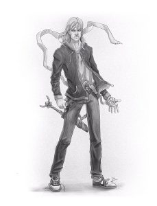 Il Mutafavole e l'Ombra del Primo Buio: Dante. Illustrazione di Iacopo Donati.