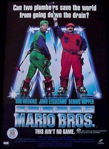 Videogiochi e cinema: la locandina del film Super Mario Bros