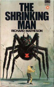 I ragni nella narrativa fantastica: copertina dell'edizione americana di Tre millimetri al giorno, romanzo di Richard Matheson.