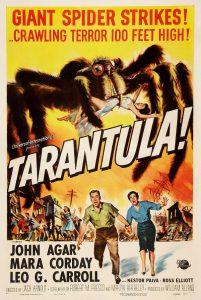 Il ragno nel cinema fantastico: poster di Tarantula, film di Jack Arnold (1955)