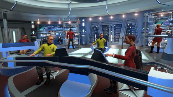 Il ponte della USS Aegis, la nave della Federazione creata appositamente per il gioco Star Trek: Bridge Crew