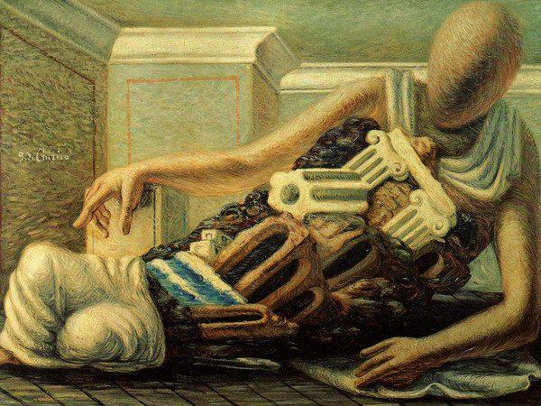 De Chirico: L'archeologo (1927) - Ispirazione per il racconto horror Veduta di Carcosa, di Alessandro Girola