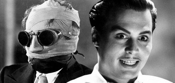 Universal Studios Dark Universe: Claude Rains in L'uomo invisibile (1933) e Johnny Depp inEd Wood (1994)