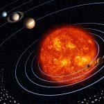 Una raffigurazione artistica del Sistema Solare.