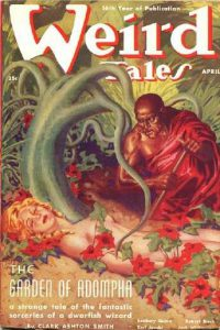 Weird Tales (1938) con il racconto The Garden of Adompha, di Clark Ashton Smith