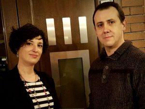 Sara Bosi e Massimiliano Prandini, autori del romanzo fantasy Il serpente di fuoco (Delos)
