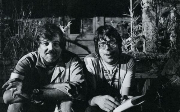 George Romero e Stephen King sul set di Creepshow (1982)