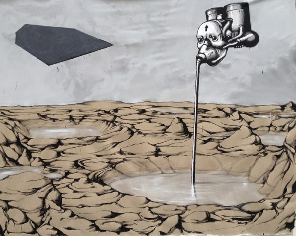 The Boost, street art by Dissenso Cognitivo