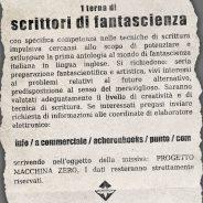 Macchina Zero, Acheron Books cerca scrittori di fantascienza